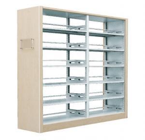 12HC-195 木护板双柱双面书架(2组)